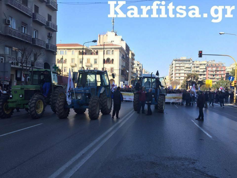 τρακτέρ πορεία ΠΑΜΕ Agrotica