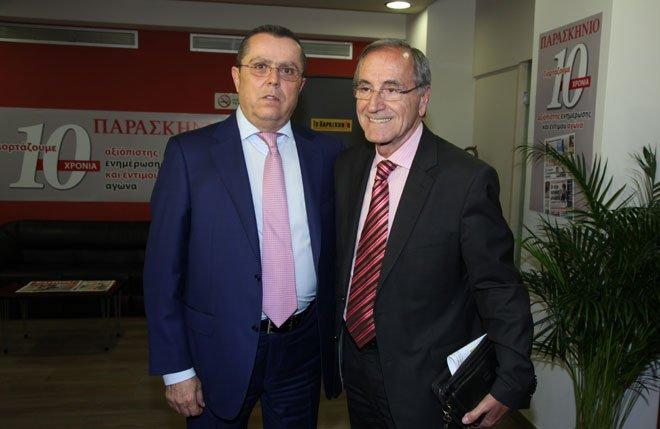 Με τον Πάνο Σόμπολο (δημοσιογράφος)