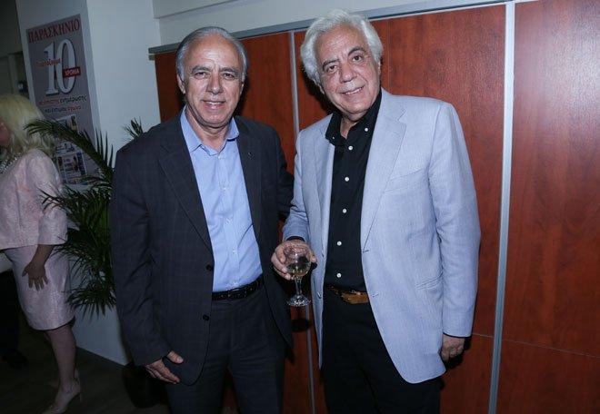 Οι Σταύρος Κασιμάτης (δήμαρχος Κορυδαλλού) και Γεράσιμος Γερακάρης (δημοσιογράφος)
