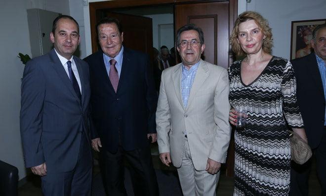 Οι Γιάννης Πλακιωτάκης, Φίλιππος Βρυώνης, Νίκος Νικολόπουλος και Κατερίνα Παπακώστα (βουλευτής ΝΔ)