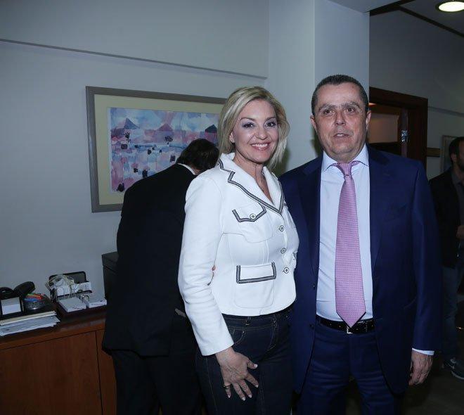 Ο Νίκος Καραμανλής με τη Νατάσα Ράγιου