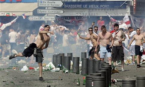 Euro επεισόδια Μασσαλία Αγγλία Ρωσία