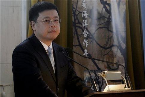 Ο πρέσβης της Κίνας στην Αθήνα Ζοού Ξιαολί   (Φωτογραφία  ΑΠΕ