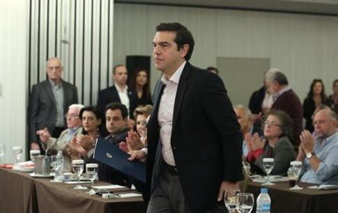 Ο πρωθυπουργός στη συνεδρίαση της ΚΕ   (Φωτογραφία:  Intime )