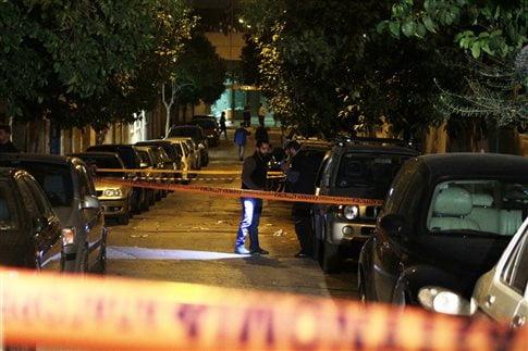 Το σημείο του αιματηρού περιστατικού   (Φωτογραφία:  Eurokinissi )